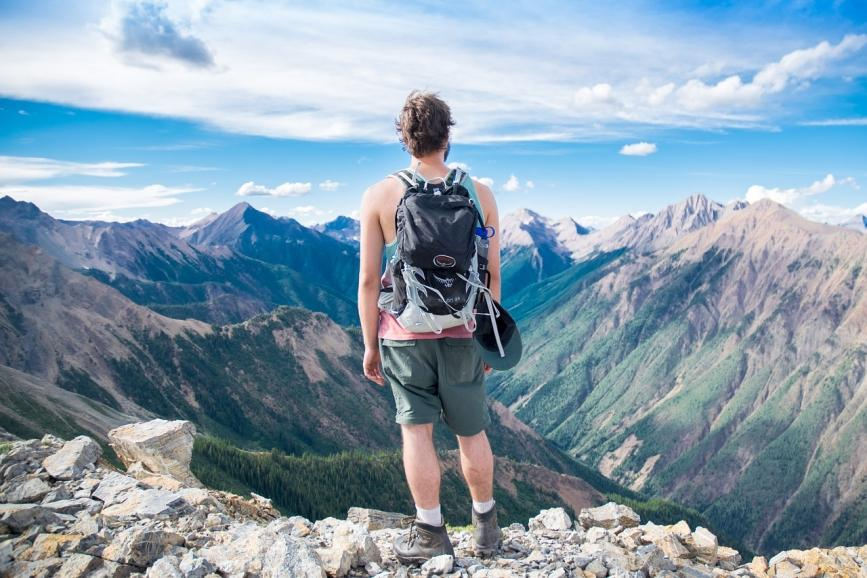 adventure and hiking backpack